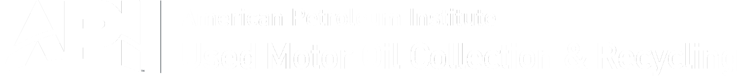 American Petroleum Institute Recycle Used Motor Oil